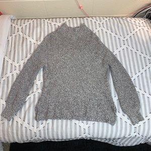 H&M Women's Heathered Puffed Sleeve Turtleneck